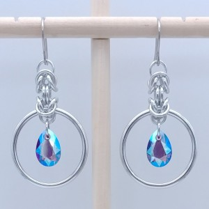 Ana Hoop with Swarovski pear